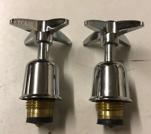 Chrome Cross Top Replacement Tap Tops and Valves Hot Cold