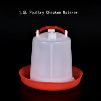 1.5L Poultry Chicken Quail Pheasant Automatic Waterer Drinker Feeder Pet SupplyW