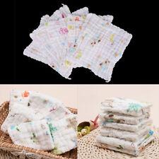 1PC Newborn Baby Soft Cotton Washcloth Bath Towel Bathing Feeding Wipe Cloth HU