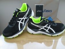 ASICS GEL-FORTITUDE 7 (2E) WIDE FIT BLACK NEON  RUNNING TRAINERS SIZE 9 EURO 44