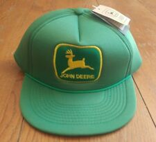 Vintage rare John Deere patch Trucker Hat cap Snapback nos Promac Inc.  New tags