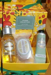 Loccitane Almond Voyage Collection Smoothing Christmas Gift Set 🎁