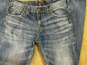 Silver Jeans Nash Straight Denim Men's Size 33 X 32