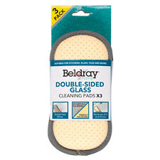 Beldray® LA077639EU7 3-Pack Double-Sided Glass Cleaning Pads | Streak-Free Shine