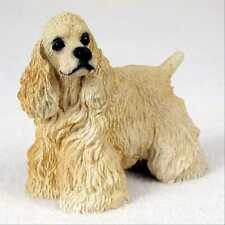 Cocker Spaniel Blond Dog Hand Painted Canine Collectable Figurine Statue