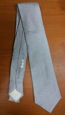 HERMES 100% SILK TIE COLOR - GRAY WITH ABSTRACT THEME