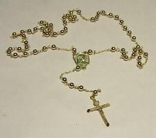 New 14K Solid Gold ROSARY BEADS (4mm) -Free Shipping