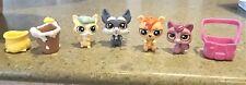 LPS Littlest Pet Shop LOT 7pc BLIND BAG Pets w/Accessories Bear Chinchilla Pot