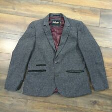 "Mens Farah Vintage Size L 40"" Grey Single Breasted Wool Blend Jacket Blazer"