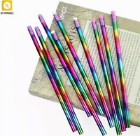 Pencil Rainbow Wood Environmental Protection Bright Color School Office Writing
