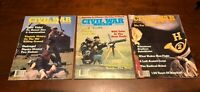 CIVIL WAR TIMES MAGAZINE (Lot of 3 - April, October & November 1984) Good Cond