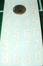 Racing Numbers Decals RUSSKIT #7116 1960 Complete sheet Slot Car 1/32 & 1/24 NOS