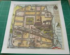 Thomas Fuller Reproduction 1650 Map of Jerusalem (Israel,Palestine,Holy Land)