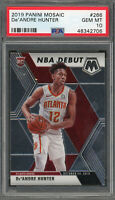 De'Andre Hunter Atlanta Hawks 2019 Panini Mosaic Debut Rookie Card #266 PSA 10