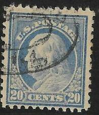 2v0736 US Stamp 1920's 20 cents Franklin Used