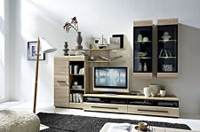 Living Room Gloss TV Units High Quality Wall Unit Fever LED 6 Pieces Modern Set