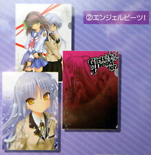 NEW OFFICIAL Anime Angel Beats! Tenshi Kanade Yuri Yui Clear File Folder Set x3
