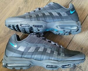 Mens Nike Air Max 95 Ultra Trainers Anthracite Grey / Laser Blue in Size 9 UK