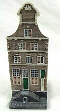 Dutch Canal Mini Building House Gray Ladder Netherlands 4 in Ceramic Vintage