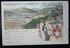 ALLEMAGNE / DEUTSCHLAND :  GRUSS - Blick Falkenstein  CACHET  25. 7. 99. (1899)