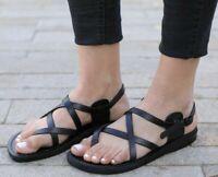 New Unisex Leather Sandals Flip Flops Thongs Biblical Jesus Jerusalem In Colors