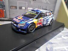 VW Volkswagen Polo WRC Rallye WM 2015 Monte #9 Mikkelsen S Red Bull Spark 1:43