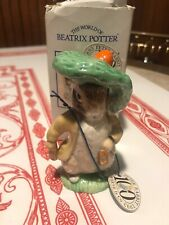 "Vintage Royal Albert Beatrix Potter Porcelain Figure ""Benjamin Bunny"" 1989"