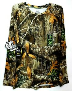 RealTree EDGE Mens Scent Control Camo Long Sleeve Shirt UVF INSECT Repel 38/40