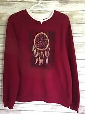 Breckenridge Pullover Sweatshirt Long Sleeve Embellished Dream Catcher Large