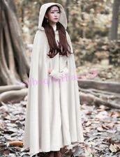Ladies Long Cape Cloak Hooded Wool Blend Coat Sleeveless Winter Warm Jacket XYW#