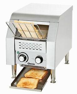 Bartscher Gastro Durchlauf-Toaster aus Edelstahl ca. 75 Toastscheiben in 1h NEU