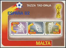 Malta 1982 SG#MS697 World Cup Football MNH M/S #D10942