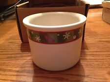 Longaberger Holiday One Pint Crock W/Lid New In Boxes!