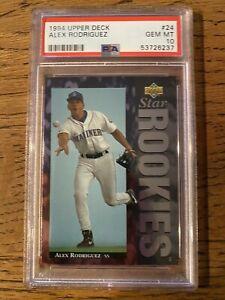 ** 1994 Upper Deck Alex Rodriguez #24 ROOKIE RC PSA 10 GEM MINT Baseball Card