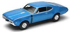 WELLY NEX MODELS 1/24 1968 OLDSMOBILE 442 (Bleu) #24024w