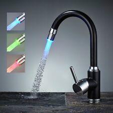 LED Schwenk Küchenarmatur Armatur Einhebelmischer Spültischarmatur Wasserhahn