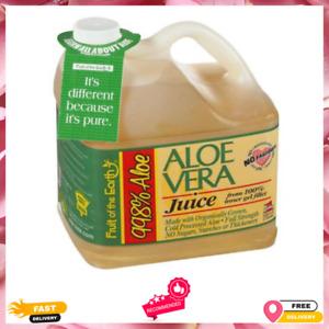 Aloe Vera Juice, Original, 128 Fl Oz, 1 Count, Drink Pure Gel Organic Liquid