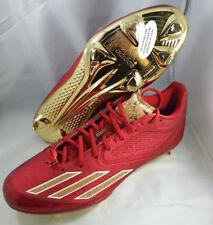 ab3c5198d8f ADIDAS ADIZERO AFTERBURNER 3 RED GOLD BASEBALL CLEATS B42915 LIMITED CORK  SZ 12