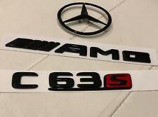 Gloss Black/Red C63s AMG Sticker Decal Emblem Badge Package for C43 C63 C63s