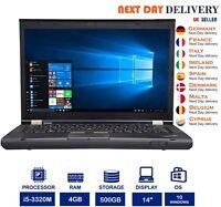 Lenovo Thinkpad T430 14-Inch Laptop Intel i5 2.60Ghz 4GB RAM 500GB HDD Windows10
