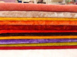 11 COLORS Vintage LONG PILE Miniature Mini Bear Velvet Rayon Fur Fabric 9X9
