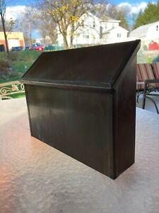 Salisbury Industries mailbox-horizontal wall-mounted brass