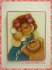 HP Hand Painted Wooden Kitchen Sign Gingerbread , plaque, Wall Hanging