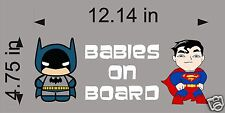 Batman and Superman Babies on Board / Vinyl Vehicle Decal Kids Graphic Sticker