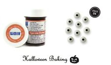 PME TIGER LILY ORANGE Paste Gel & Eye Balls Toppers For Halloween Decorations