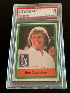 1981 DONRUSS GOLF  #5  BEN CRENSHAW ROOKIE RC PSA 7 CENTERED LOOKS LIKE 9.
