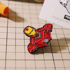 Marvel The Avenger Ironman Metal Brooch Pin Badge Rare Collect Accessories N
