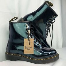 Dr Martens 1460 Sparkle Women's Leather Ankle Boots Teal Size US 7 EU 39 NEW