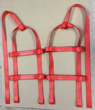 TOW DOLLIE Basket Straps Tow Dolly Wheel Net  LOOP END  Red USA MADE Fit STEHL