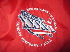 Reebok SUPER BOWL XXXVI New England Patriots Embroidered Zippered (2XL) Jacket